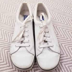 Keds Vintage 80s Laced Walking Sneakers White Sz 9